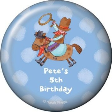 Little Cowboy Party Personalized Magnet (each)