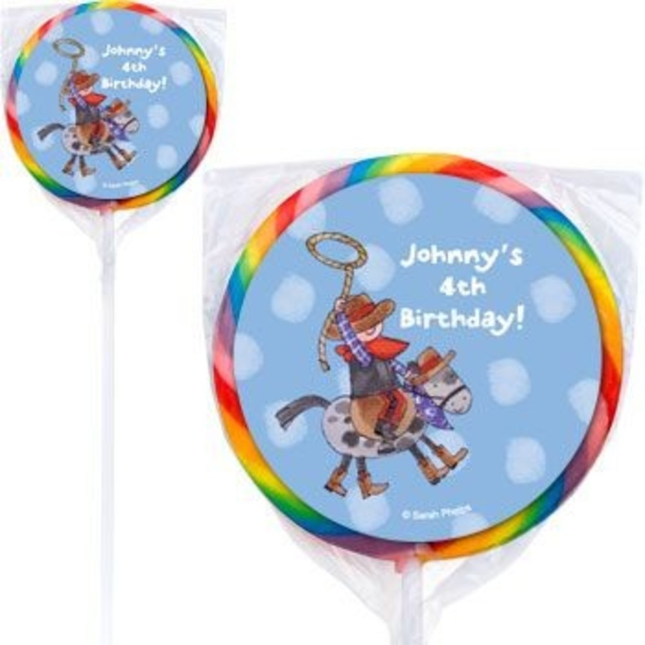 View larger image of Little Cowboy Personalized Lollipops (pack of 12)