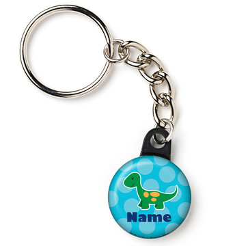 "Little Dino Personalized 1"" Mini Key Chain (Each)"