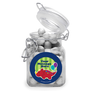 Little Dino Personalized Glass Apothecary Jars (12 Count)