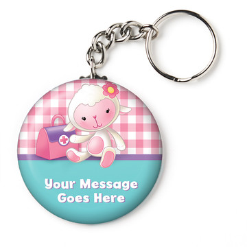 "Little Doc Personalized 2.25"" Key Chain (Each)"