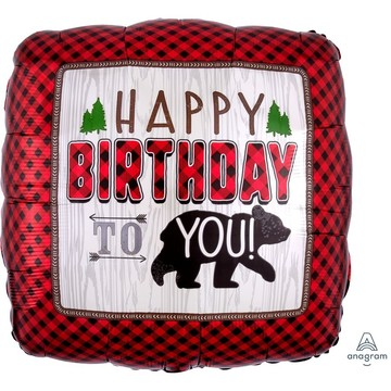 Little Lumberjack Birthday 28 Jumbo Foil Balloon