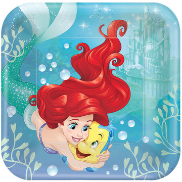 Little Mermaid Luncheon Plates (8 Count)