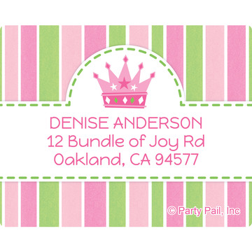 Little Princess Personalized Address Labels (Sheet of 15)