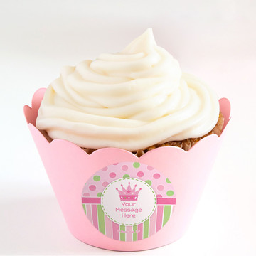 Little Princess Personalized Cupcake Wrappers (Set of 24)