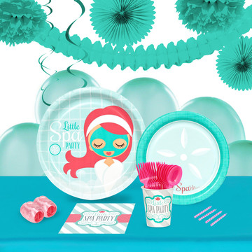 Little Spa Party 16 Guest Tableware Deco Kit
