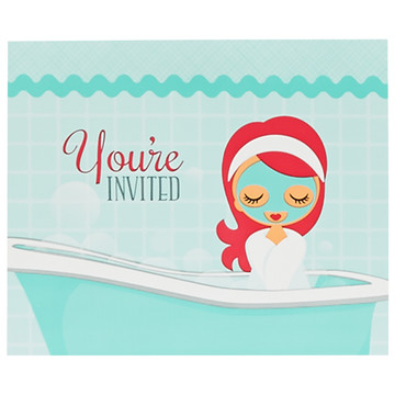 Little Spa Party Invitations
