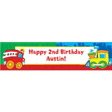 Little Truck Party Personalized Banner (each)