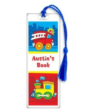Little Truck Party Personalized Bookmark (each)
