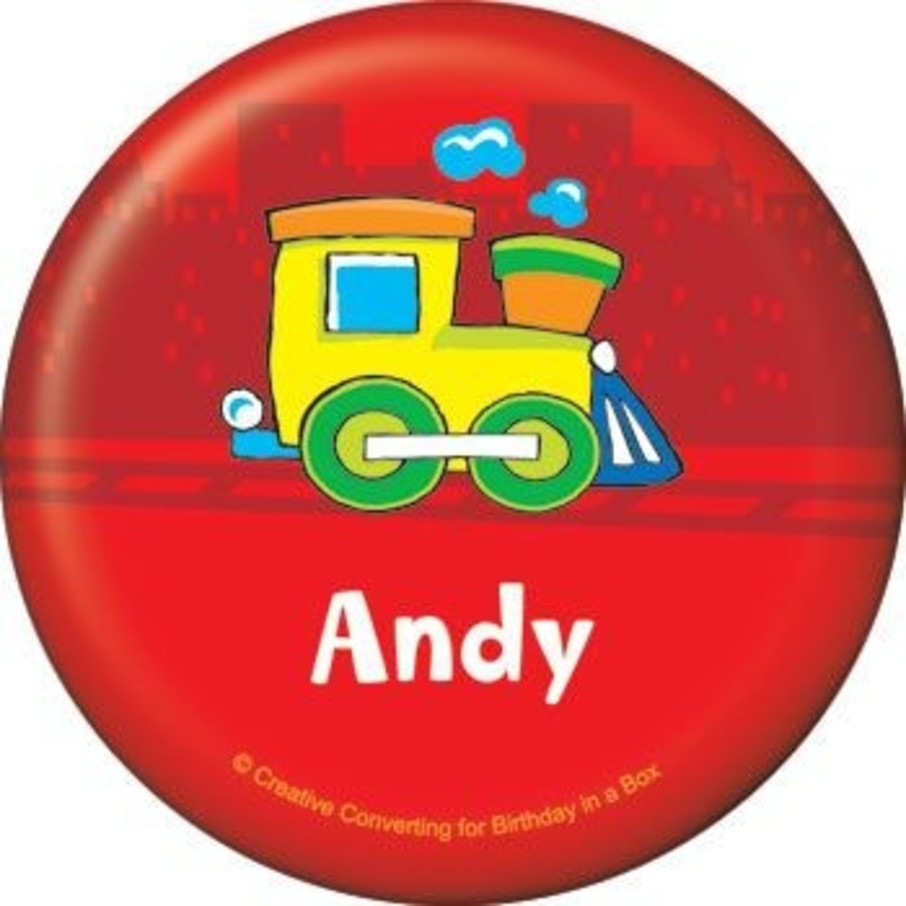 View larger image of Little Truck Party Personalized Button (each)