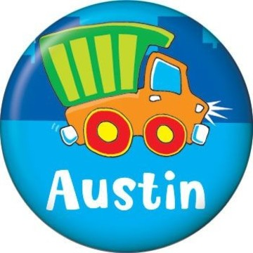 Little Truck Party Personalized Mini Button (each)