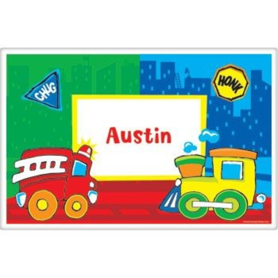 View larger image of Little Truck Party Personalized Placemat (each)