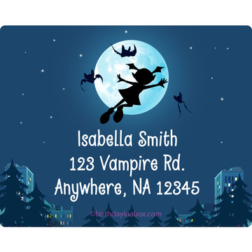 Little Vampire Personalized Address Labels (Sheet of 15)