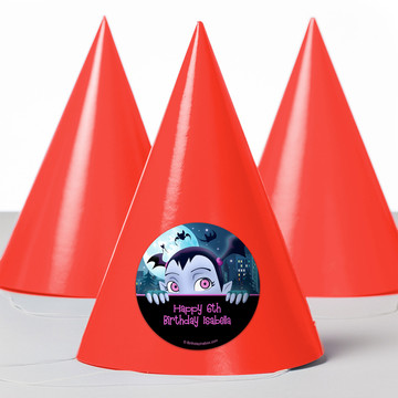 Little Vampire Personalized Party Hats (8 Count)