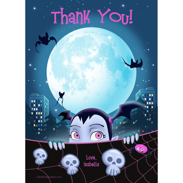 Little Vampire Personalized Thank You (Each)