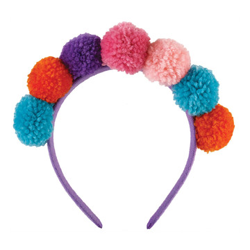 Llama Fun Pom Pom Headband for Girls