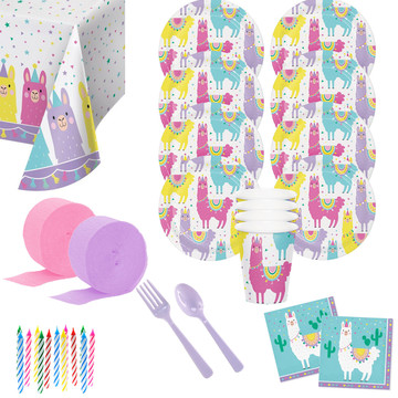 Llama Party Deluxe Tableware Kit (Serves 8)