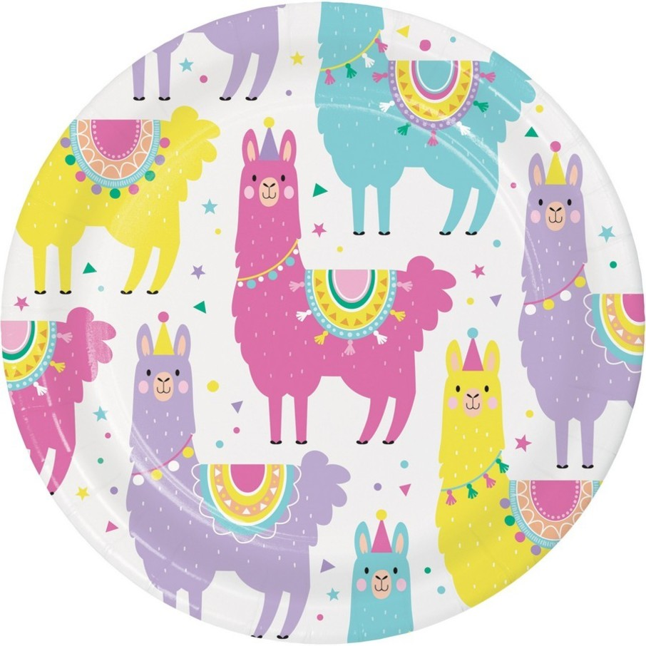 View larger image of Llama Party Dessert Plate (8)