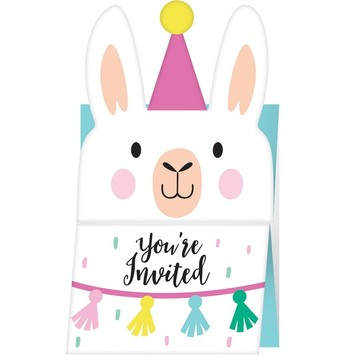 Llama Party Invitations (8)