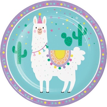 Llama Party Lunch Plate (8)