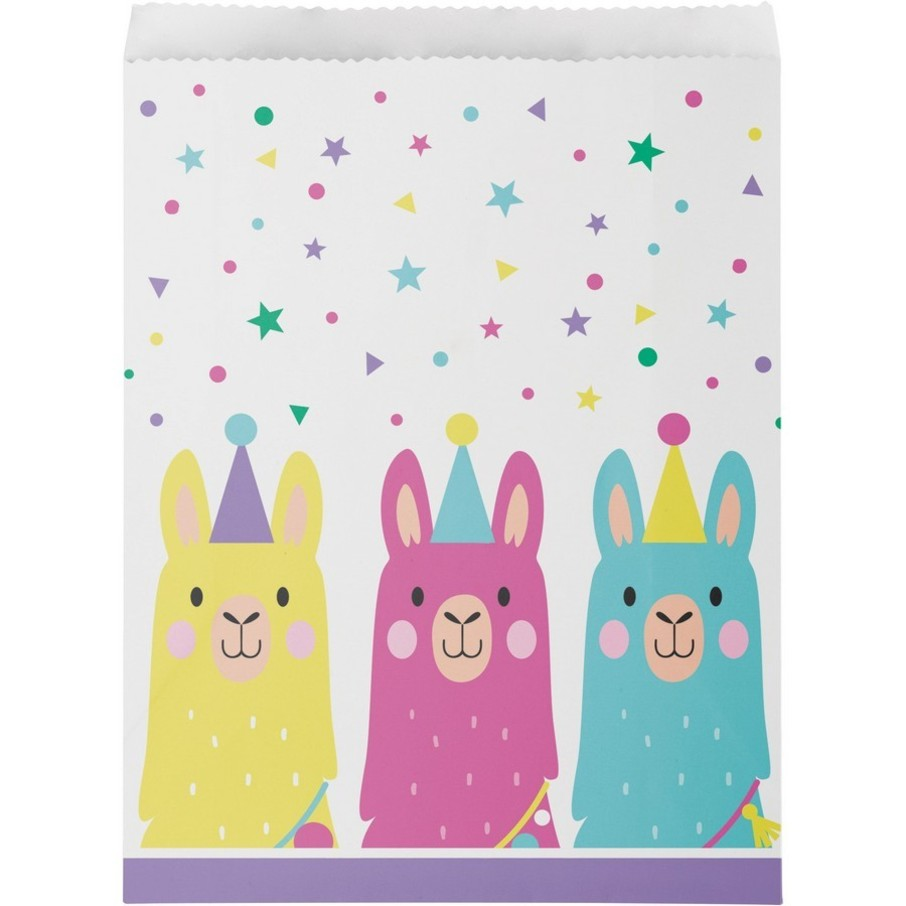 View larger image of Llama Party Paper Treat Bags (10)