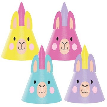 Llama Party Party Hats (8)