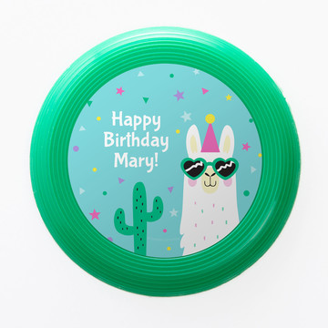 Llama Party Personalized Mini Discs (Set of 12)