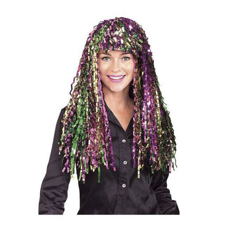 View larger image of Long Multi Colored Mardi Gras Tinsel Wig