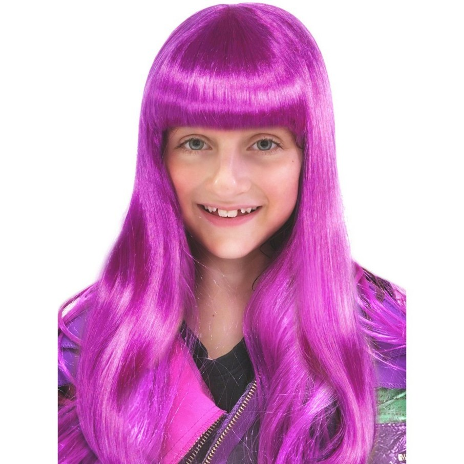 View larger image of Long Purple Neon Wig
