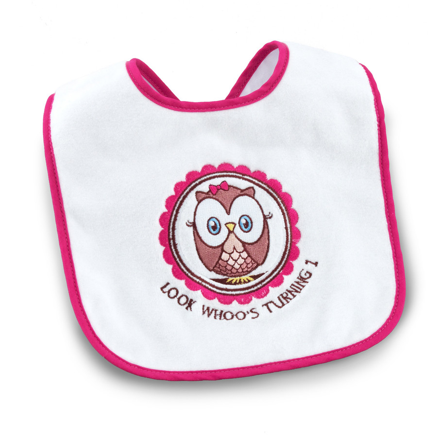 View larger image of Look Whoo's 1 Pink Bib