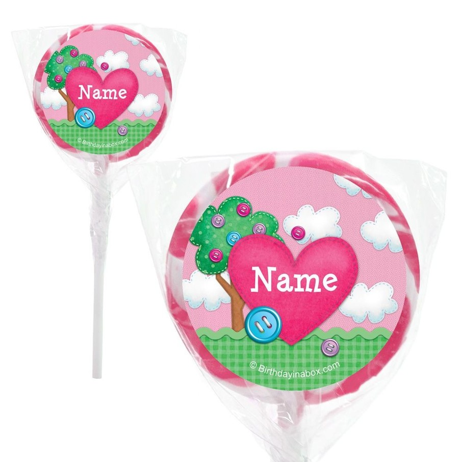 "View larger image of Loopy Rag Dolls Personalized 2"" Lollipops (20 Pack)"