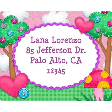 Loopy Rag Dolls Personalized Address Labels (Sheet Of 15)