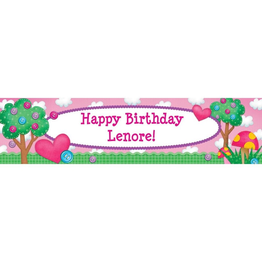View larger image of Loopy Rag Dolls Personalized Banner (Each)