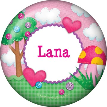 Loopy Rag Dolls Personalized Button (Each)