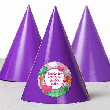 Loopy Rag Dolls Personalized Party Hats (8 Count)