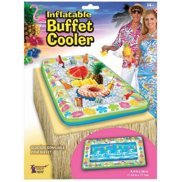 """Luau Colorful Inflatable 4.5' x 28"""" Buffet Cooler"""
