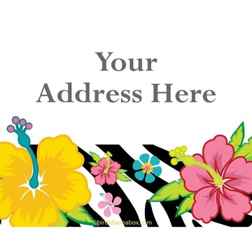 Luau Fun Personalized Address Labels (Sheet of 15)