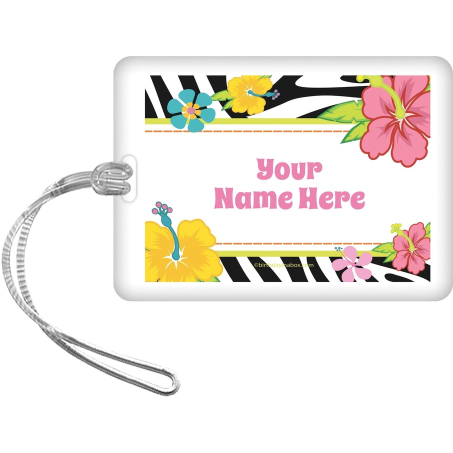 View larger image of Luau Fun Personalized Bag Tag (Each)