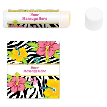 Luau Fun Personalized Lip Balm (12 Pack)