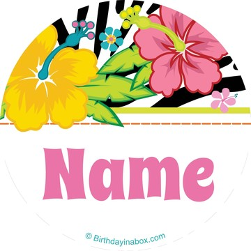 Luau Fun Personalized Mini Stickers (Sheet of 24)