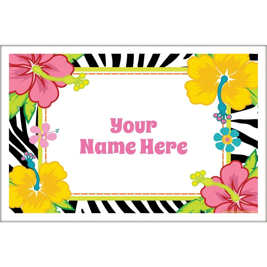 View larger image of Luau Fun Personalized Placemat (Each)