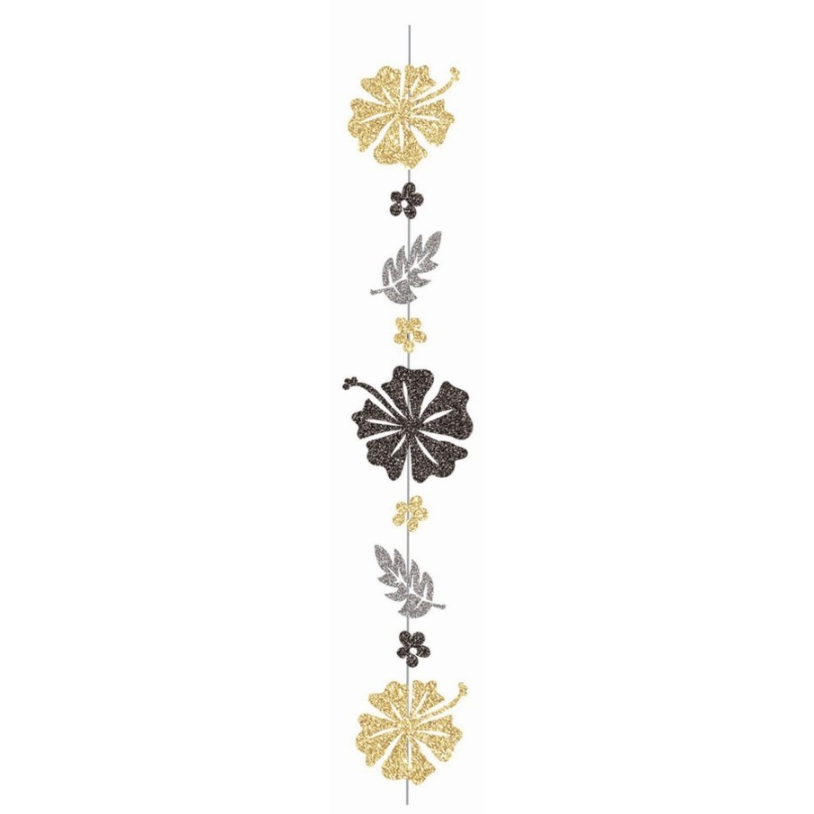 View larger image of Luau Luxe Glitter Flower 6' String Decoration