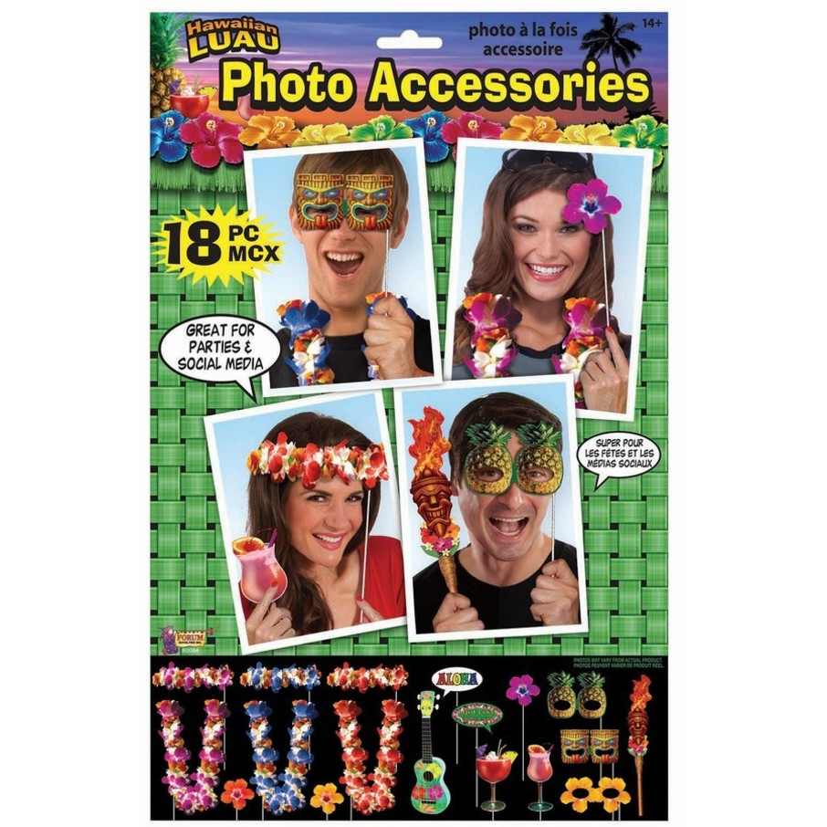 View larger image of Luau Photo Props (18 Piece)