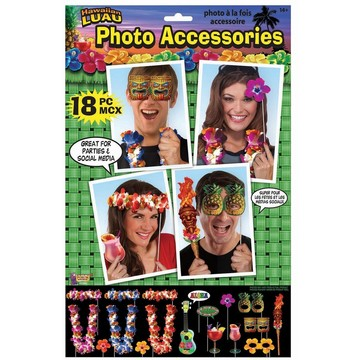 Luau Photo Props (18 Piece)