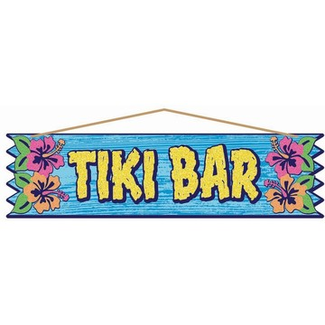 "Luau ""Tiki Bar"" 4"" 15.5"" Plaque"