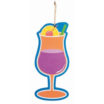 "Luau Tropical Drink 5"" x 11"" Plaque"