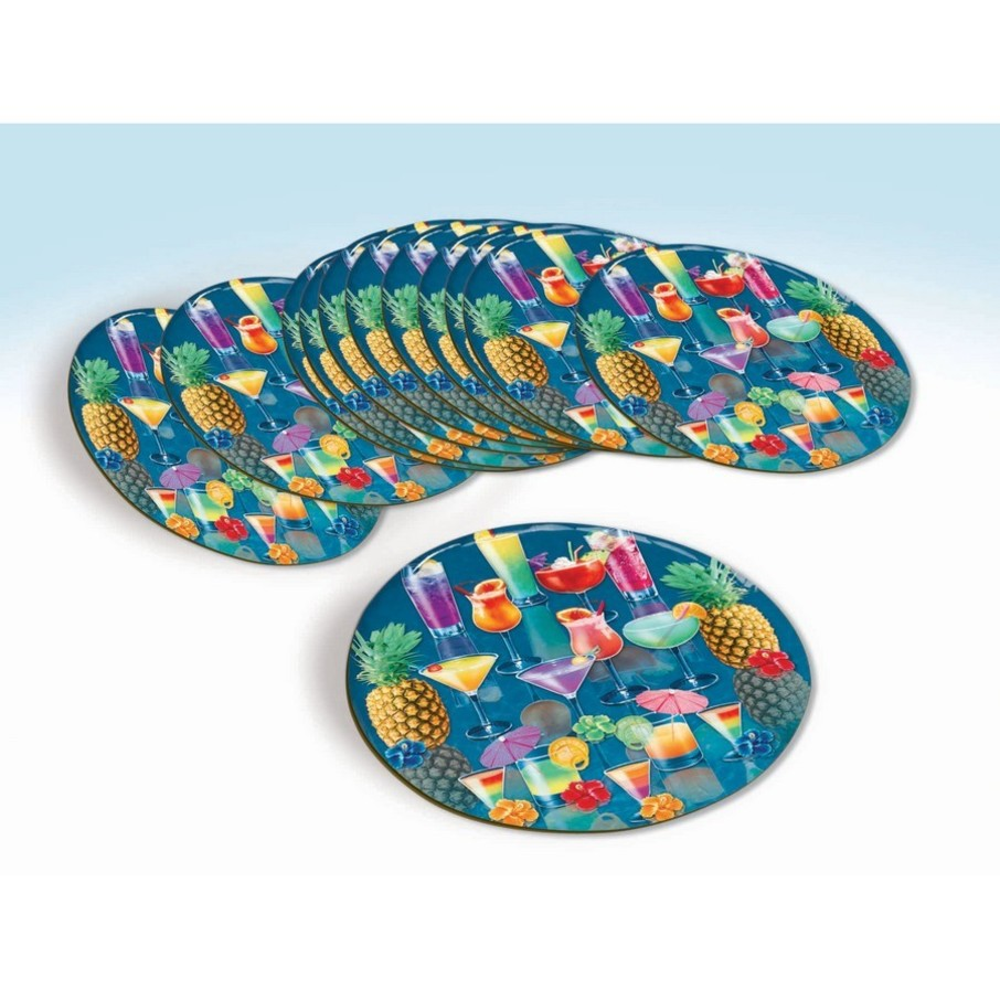 View larger image of Luau Tropical Drink Coaster Set (12 Count)