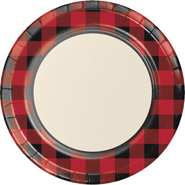 "Lumberjack Plaid 9"" Luncheon Plates (8 Count)"