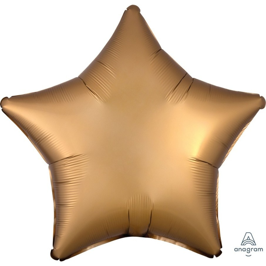 View larger image of Luxe Sateen 19 Foil Star Balloon - Gold