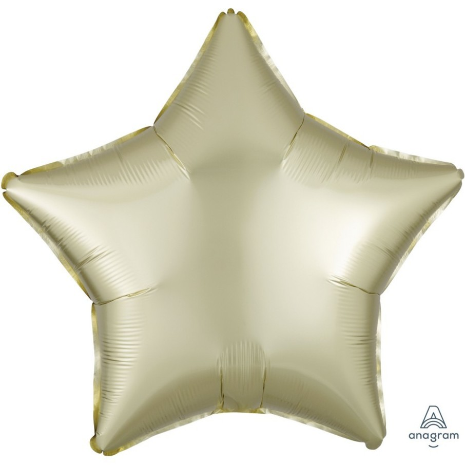 View larger image of Luxe Sateen 19 Foil Star Balloon - Pastel Yellow